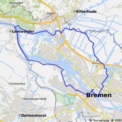 Ritterhude - Bremen (City) - Lemwerder - Ritterhude