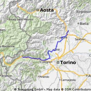 Tour des Alpes occidentales 6. Etappe
