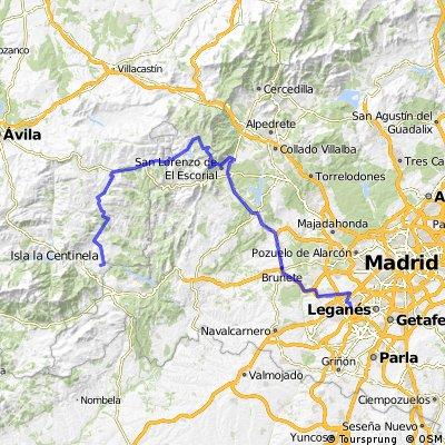 Alcorcon-Puente Nuevo por carretera- Escorial-abantos