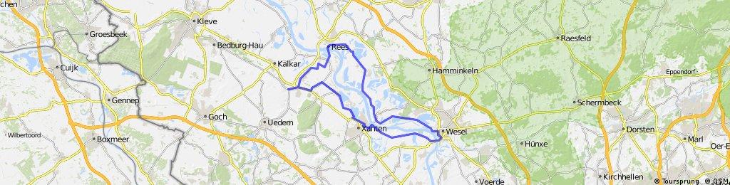 Kehrum - Rees -Wesel - Xanten - Kehrum