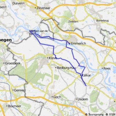 Kehrum - Emmerich - Millingen - Griethausen - Kalkar - Kehrum