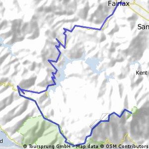 fairfax to east peak