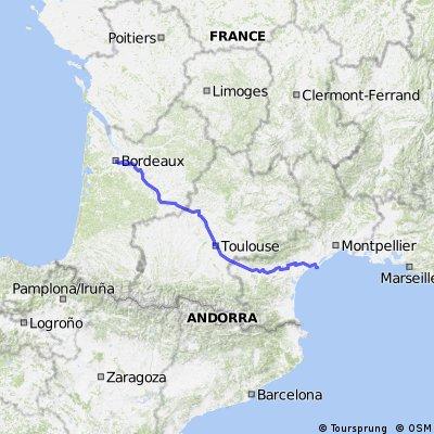 Bordeaux Agde Canal du Midi
