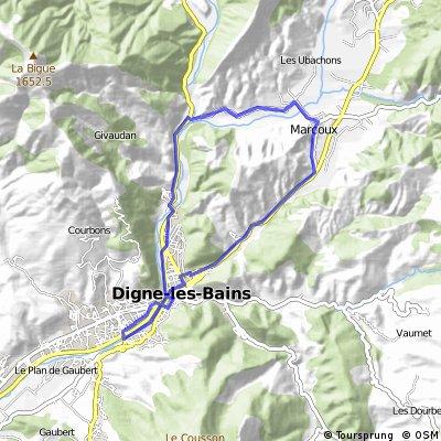 Rundfahrt; Clos de Jaline – 14,5 km  – 50 m Höhenunterschied
