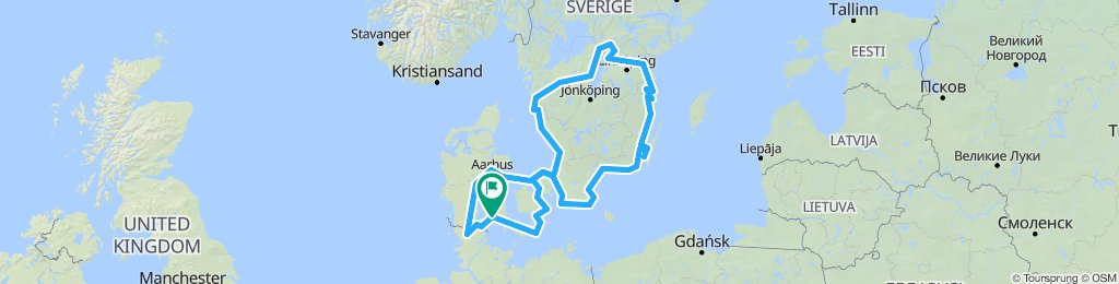Radtour Schweden