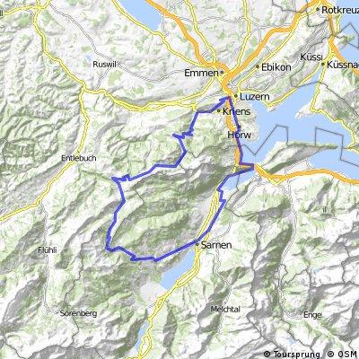 Luzern-Eigental-Glaubenberg-Luzern