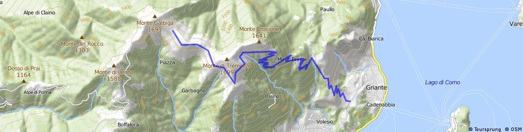 Rifugio Venini - Griante (via Monti Brente)
