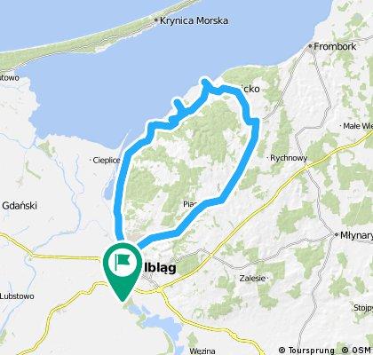 Elbląg → Kadynyn → Tolmicko → Elbląg