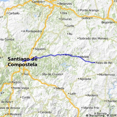 Camino de Santiago: Palas de Rei - Santiago de Compostela