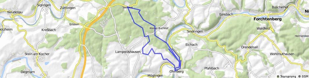 Von Ohrnberg durch den Harthäuser Wald zum Seehaus