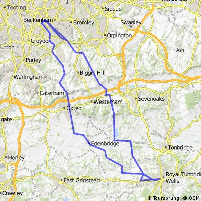 South Norwood to Tunbridge Well and back