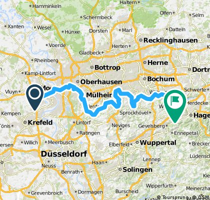 Ruhrtalweg von moersbis Kettwig