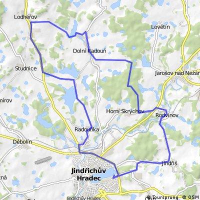(3) Lodhéřovská - střední trasa
