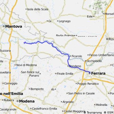 Sesta tappa 3 agosto (Ferrara - San Benedetto PO)