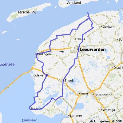 Holwerd-leuwarden-Sneek-Harlingen