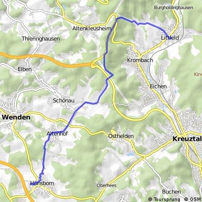 Wenden-Hünsborn nach Littfeld