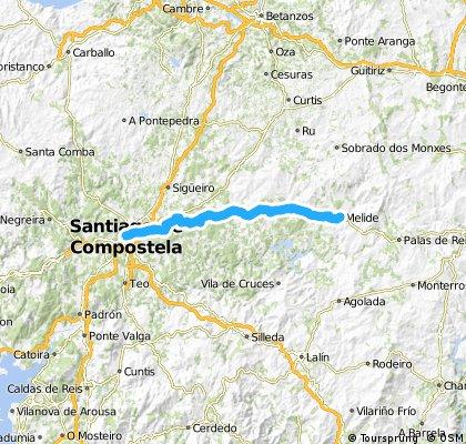 Camino de Santiago MTB: Melide - Santiago