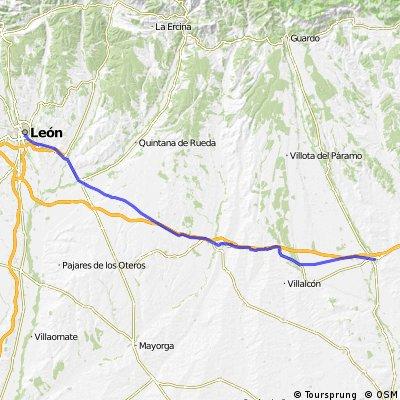Camino de Santiago MTB: Carrion de  Los Condes - Leon