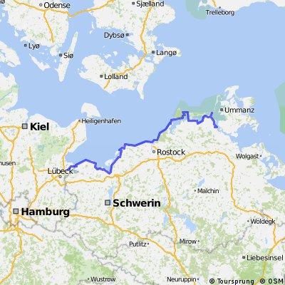 Ostsee-Radweg Lübeck-Kücknitz - Stralsund