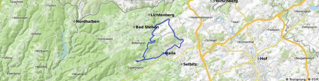 2 Issigau - Kohlbühl - Rodesgrün - Naila - Pechreuth - Marxgrün -Hölle