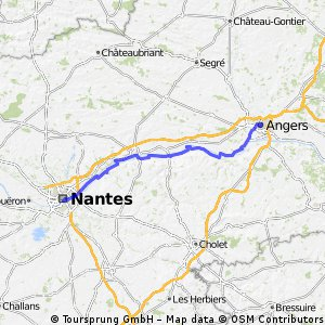 Cycling routes and bike maps in and around Angers Bikemap Your