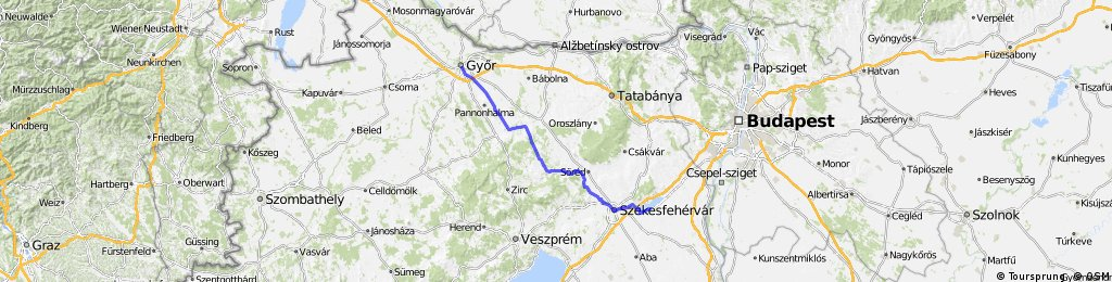 Győr-Székesfehérvár-Agárd reku találkozóra