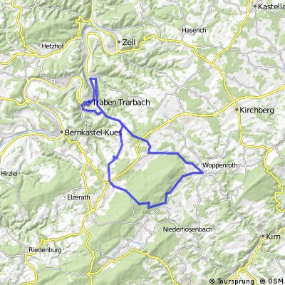 Mosel-Hunsrück-Permanente - 75 km Strecke des VfL Traben-Trarbach 1861 e.V.