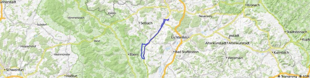 Itzgrund 37km Rollen: Untersiemau - Gleusdorf - retour