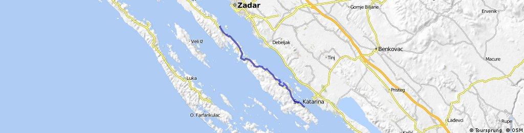 PAŠMAN - UGLJAN due isole in bici