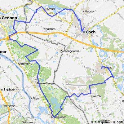 Herrensitz-Route (2) Goch-Maasduinen-Weeze.