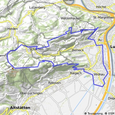 Widnau-Au-Walzenhausen-Oberegg-St.Anton- Widnau