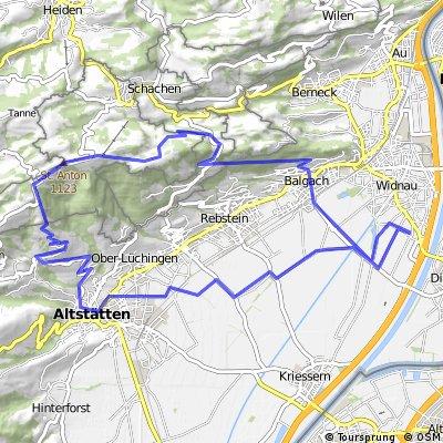 Widnau-Altstätten-Ruppen-St.Anton-Widnau