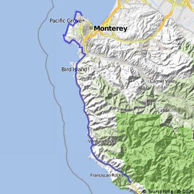 17 Mile Drive - Monterey to Big Sur CA | Bikemap - Deine ...