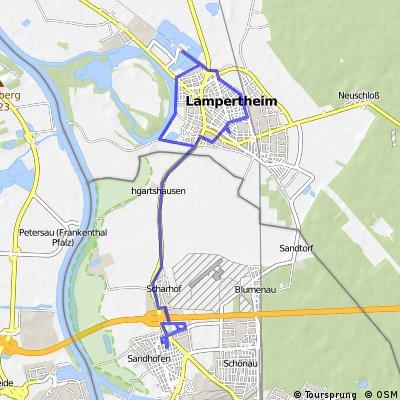 Sandhofen, Lampertheim und zurück