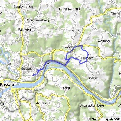 Route Grubweg - Kellberg und zurück (Jeweils Kernmühle)