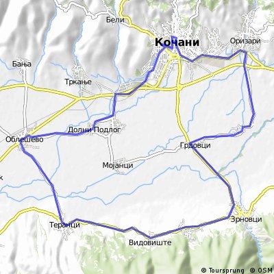 Kocani-Pribacevo-Zrnoci-Teranci-Oblesevo-Podlog-Kocani