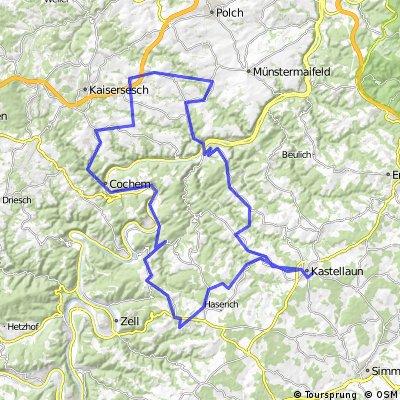 Kastellaun - Lahr - Treis-Karden - Brohl - Landkern - Cochem - Beilstein - Blankenrath - Mastershausen - Kastellaun