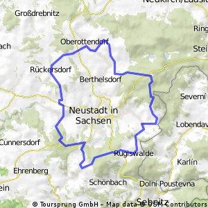 Radweg um Neustadt/Sa,