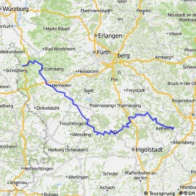 Rothenburg bis Kehlheim durch das Altmühltal
