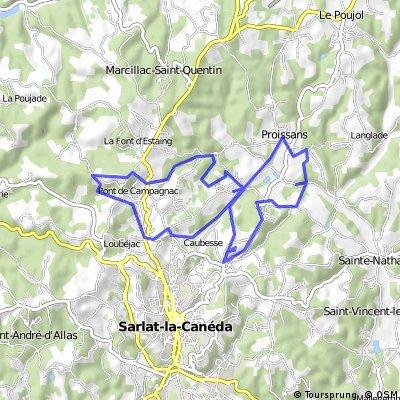 Sarlat route 2 en 3