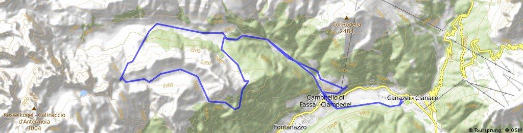 canazei-campitello-val duron-val di donna | Bikemap - Your bike routes