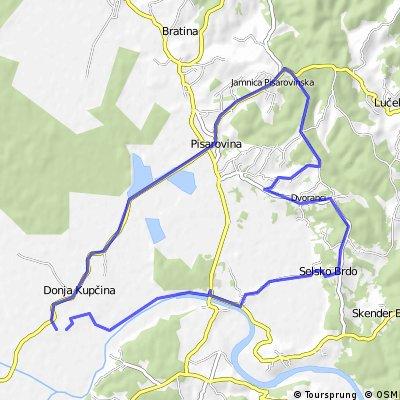 Map 8 — Donja Kupčina – Pisarovina – Dvoranci – Skenderi – Gradec Pokupski (brown route)
