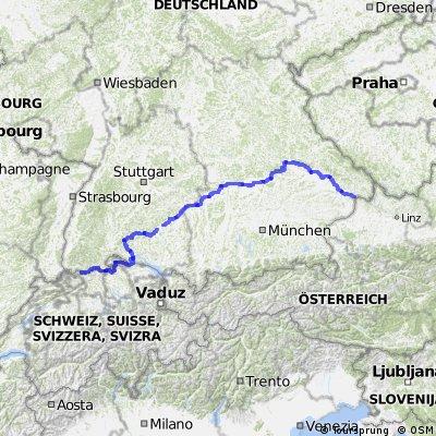 Germany-Euro Velo 6 -Passau to Bad Sackingen