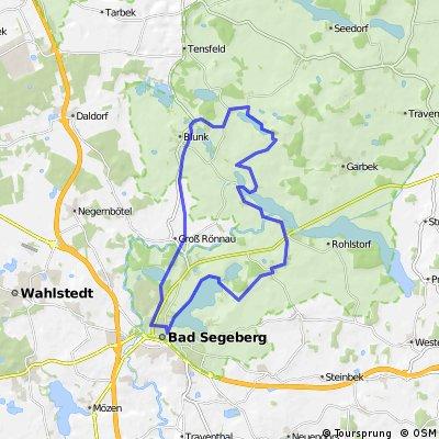 Blunker See-Bad Segeberg 8 Seentour 31km