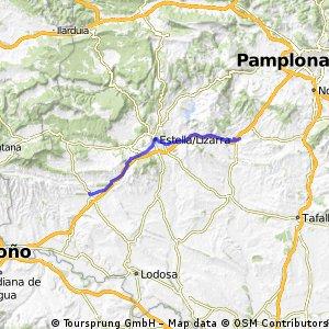 Jakobsweg per Rad Etappe 2: Puente la Reina –  Los Arcos  (39,3 km)