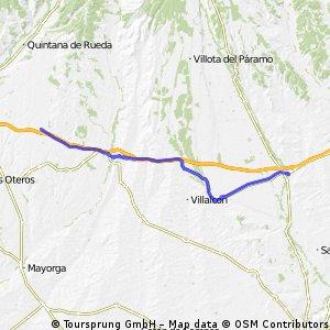 Jakobsweg per Rad Etappe 7: Carrión de los Condes – El Burgo Ranero (61,8 km)