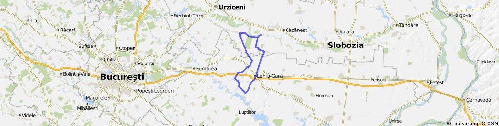 Lehliu Gara - Crasanii de Jos - Axintele - Horia - N. Balcescu - Fantana Doamnei - Lehliu Gara