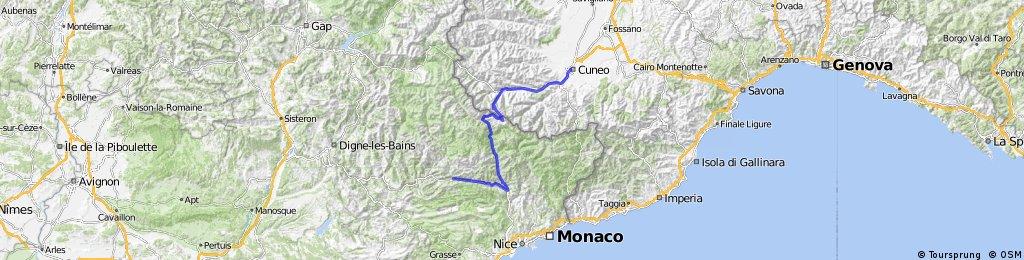 Cuneo - Col de la Lombarde - Puget Theniers