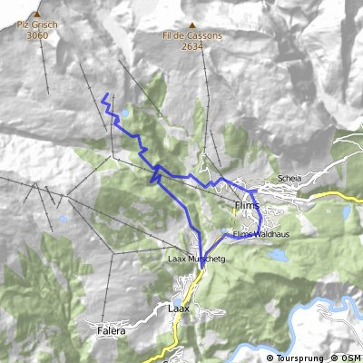 Cycling routes and bike maps in and around Flims Bikemap Your