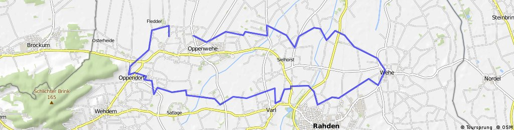 Altherren-Radtour Stemwede-Oppenwehe - Wehe - Varl -Oppendorf - Oppenwehe